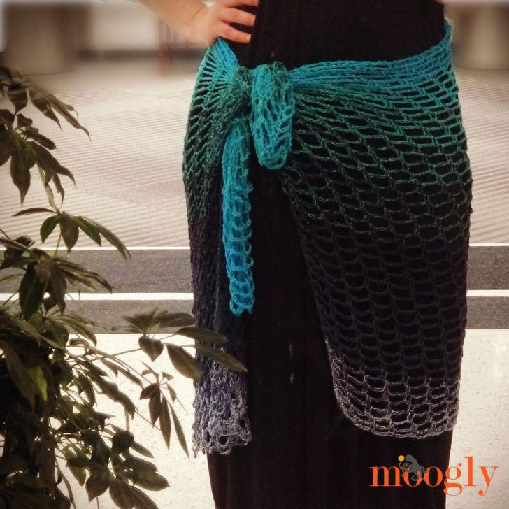 Artfully Simple Angled Wrap - sarong