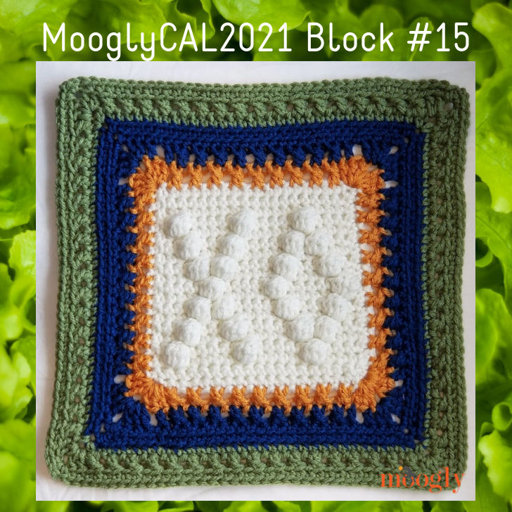 MooglyCAL2021 Block #15 with green frame