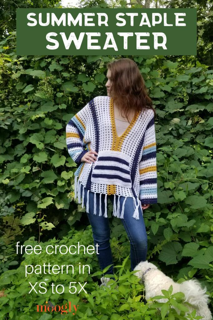 Summer Staple Sweater - Free Crochet Pattern on Moogly