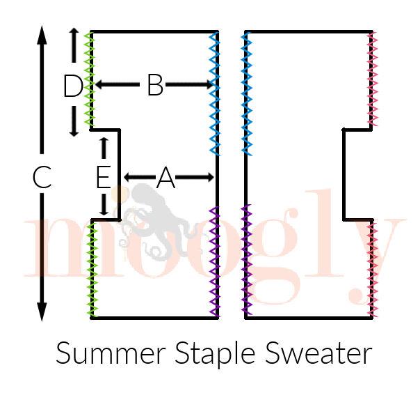 Summer Staple Sweater Schematic
