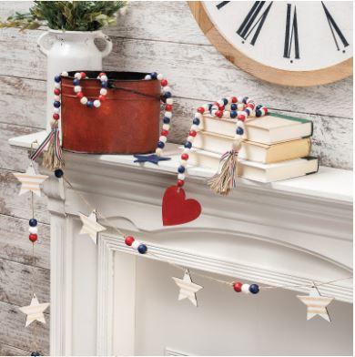 Annie's Farmhouse Style Kit Club - patriotic garland