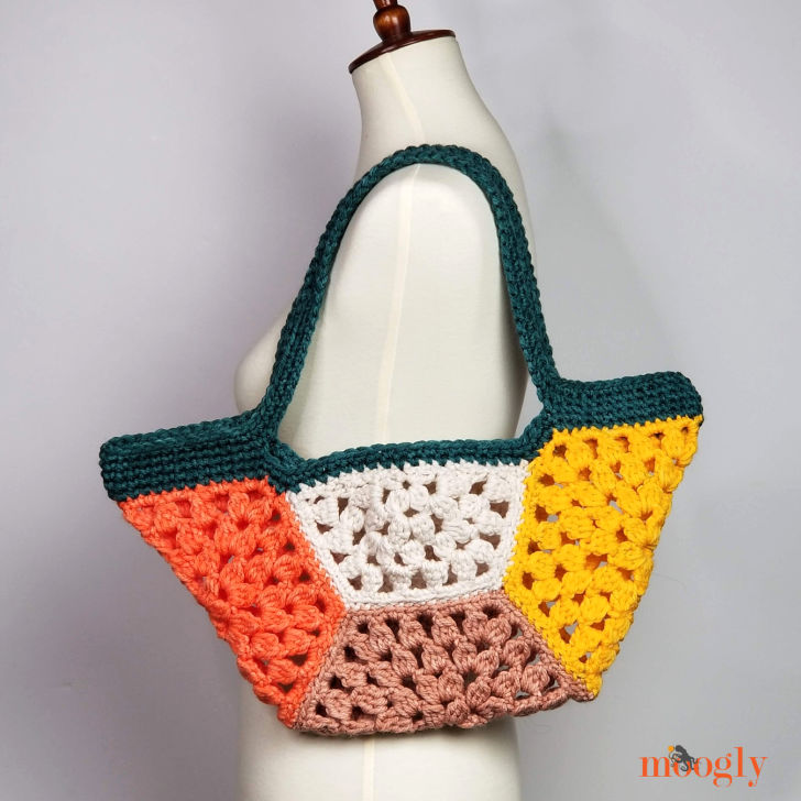 Granny Hex Tote - on mannequin