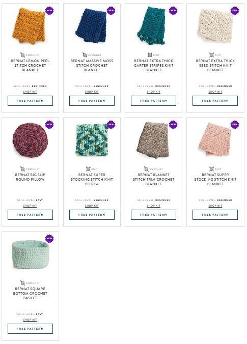 Bernat Blanket Extra Thick Patterns