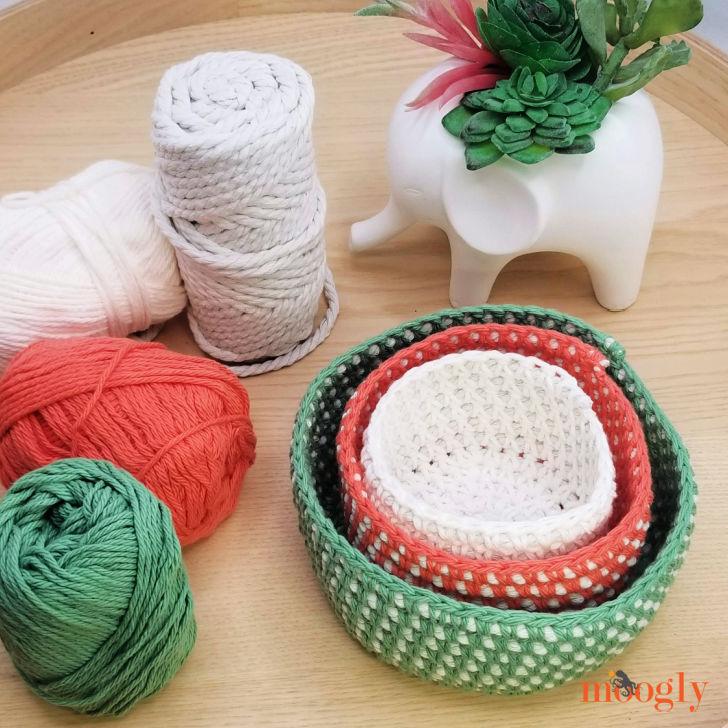 Crochet Cord Nesting Bowl