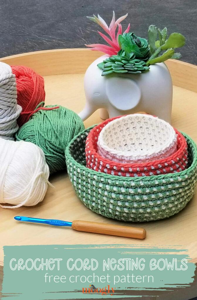 Crochet Cord Nesting Bowls - Moogly