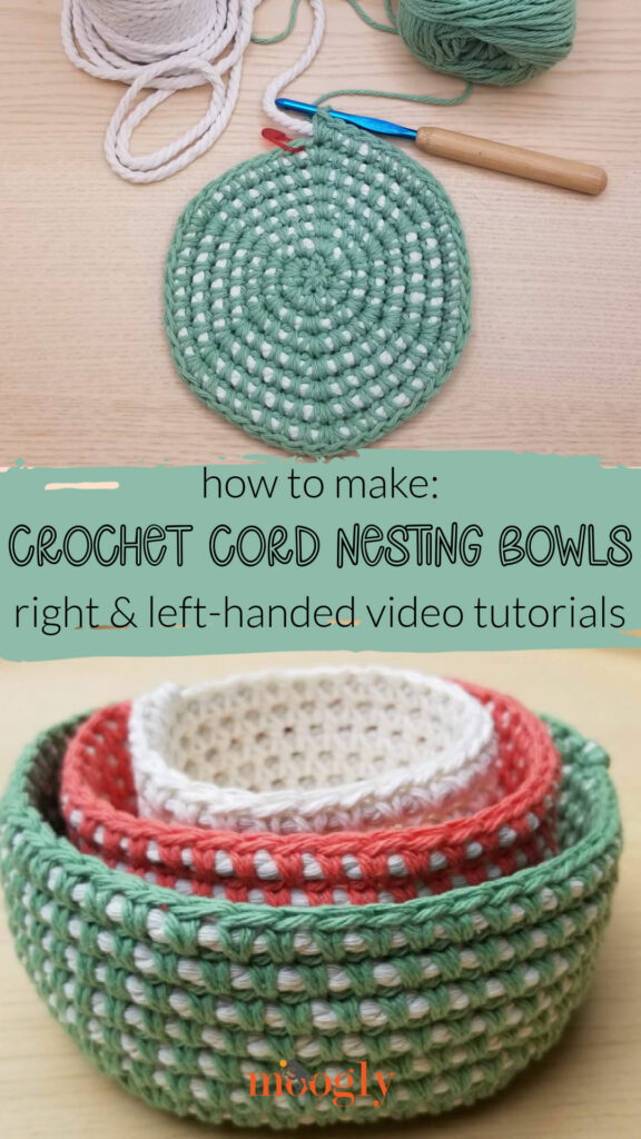 Crochet Cord Nesting Bowls Tutorial