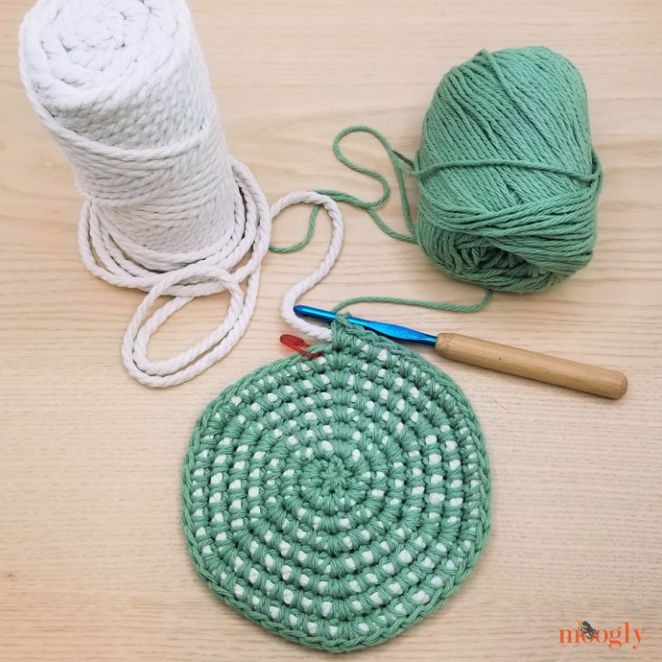 Crochet Cord Nesting Bowls - WIP