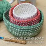 Crochet Cord Nesting Bowls - tutorial