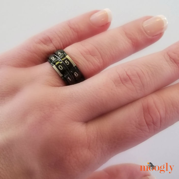 Knitter's Pride Row Counter Ring - worn