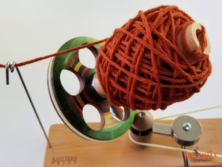 Knitter's Pride Signature Wool Winder - in use