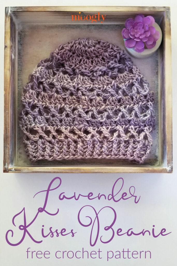 Lavender Kisses Beanie - free crochet pattern on Moogly