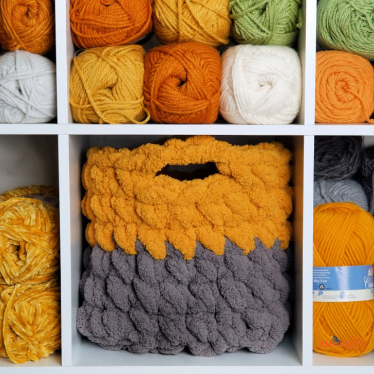 Cushy Crochet Cube Storage Bin - Moogly