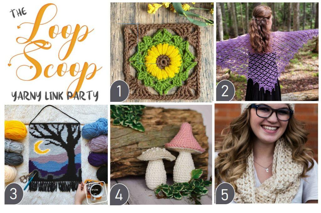 The Loop Scoop # 23: A Yarny Link Party!  em Moogly e Petals para Picots