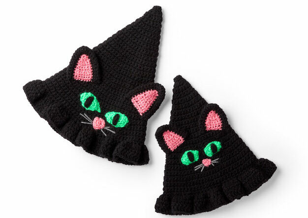Red Heart Witchy Cat Hat