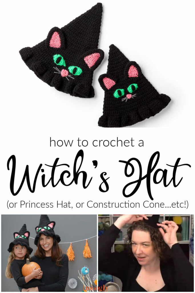 How to Crochet a Witch's Hat - or any Cone! Moogly